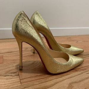 """WORN ONCE - *Authentic* gold """"So Kate"""" Louboutin"""